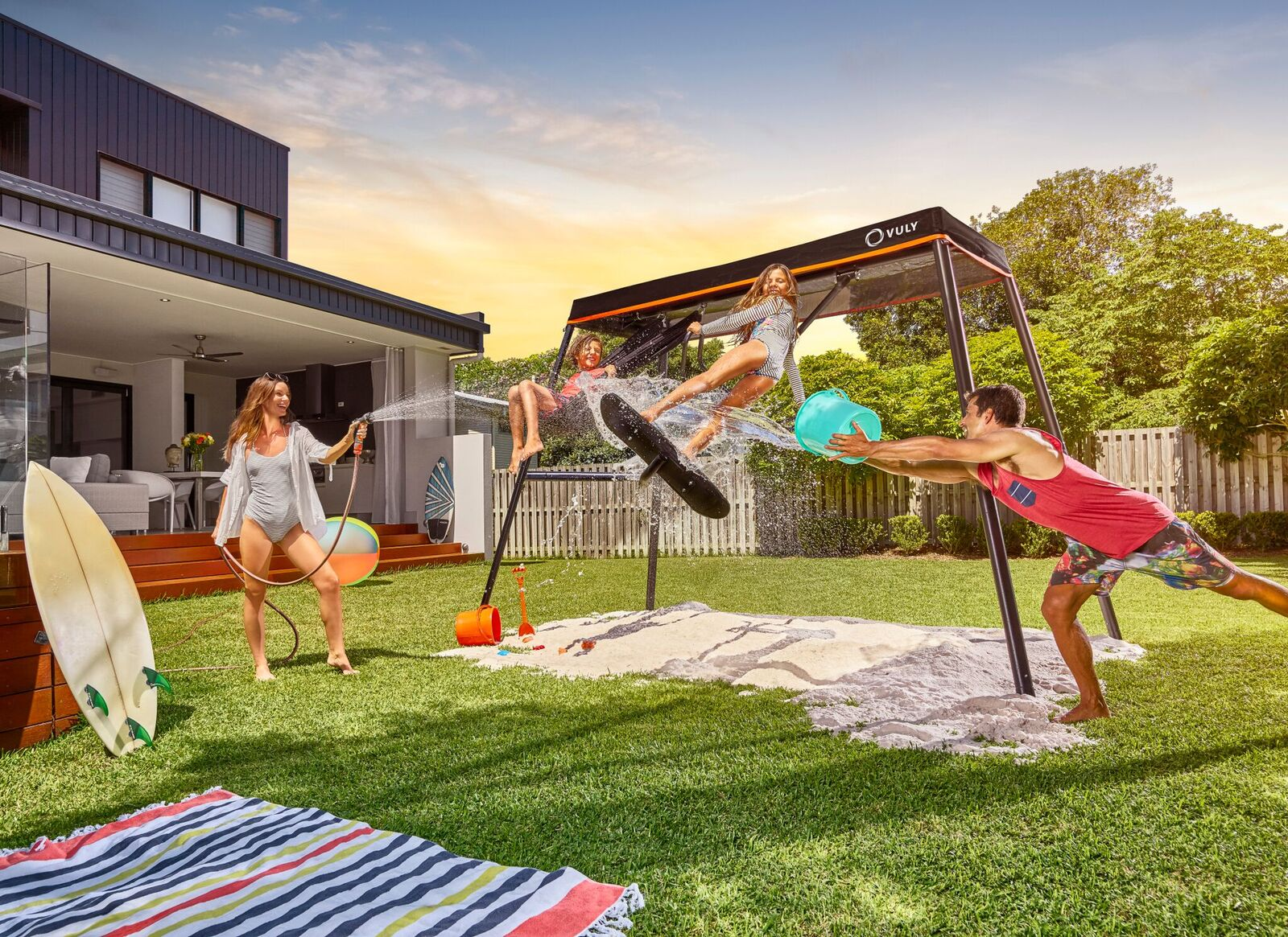 Vuly  360 Pro Swing Set Bundle (incl Frame, Shade Cover, Spin Swing & Yoga Swing) + FREE Perth Delivery