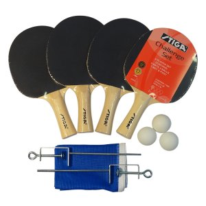 STIGA Challenger 4 Player Set (Bats, Balls & Net)