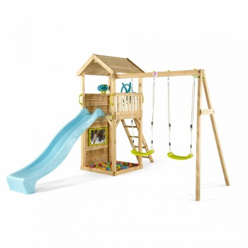 Plum® Lookout Tower Wooden Climbing Frame with Swings (incl Perth Delivery)