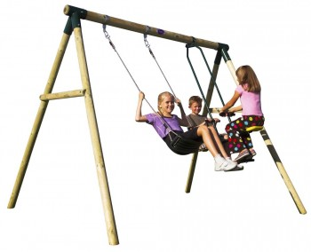 Plum® Lemur Wooden Swing Set (incl Perth Delivery)