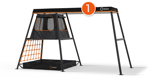PLAYSET – 3.4m (1 Swing Option) – With Cubby + FREE Shade Cover + FREE Delivery (Choose Swing Seperately)