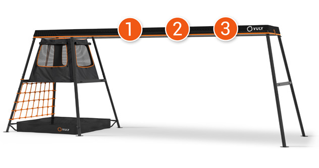 PLAYSET – 6.6m (3 Swing Option) – With Cubby + FREE Shade Cover + FREE Delivery (Choose Swings Seperately)
