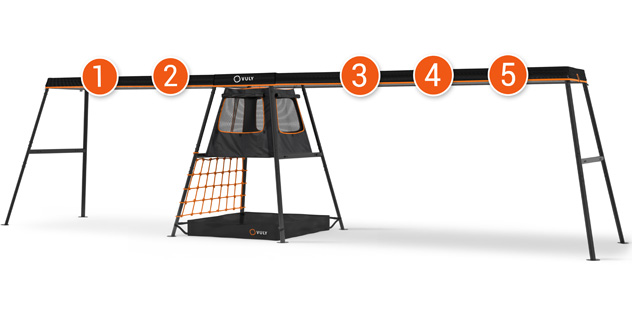 PLAYSET – 9.9m (5 Swing Option) – With Cubby + FREE Shade Cover + FREE Delivery (Choose Swings Seperately)