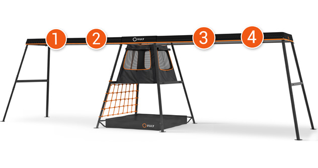 PLAYSET – 8.7m (4 Swing Option) – With Cubby + FREE Shade Cover + FREE Delivery (Choose Swings Seperately)