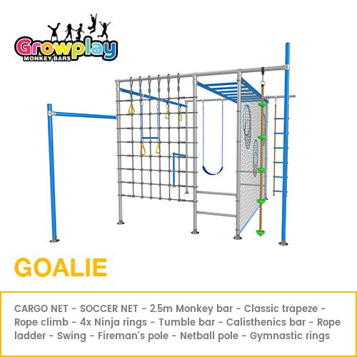 GROWPLAY Monkey Bars (Goalie) – Original + Cargo Net + Soccor Goal + FREE Perth Delivery