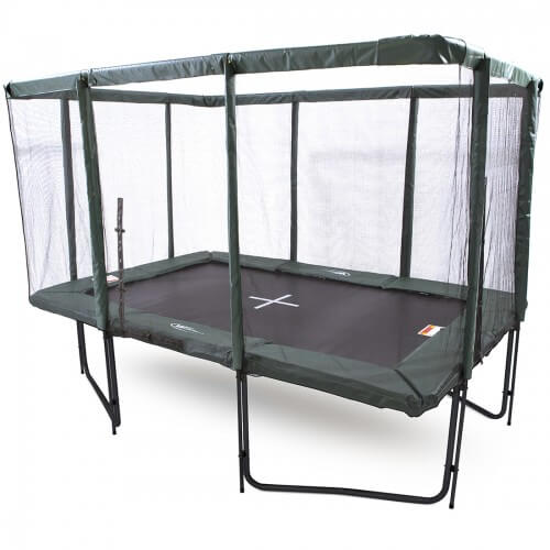 GeeTramp Force 8x12ft Rectangle Trampoline – Black Edition – Standard