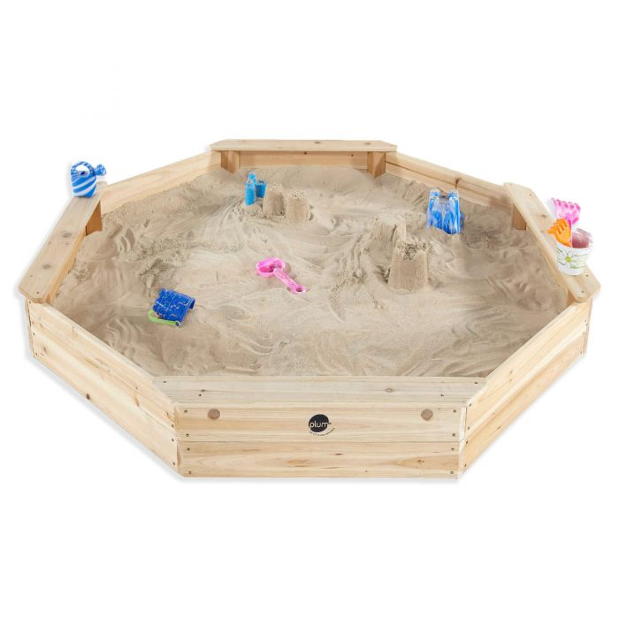 PLUM® Large Octagonal Wooden Sand Pit – FREE WA Delivery